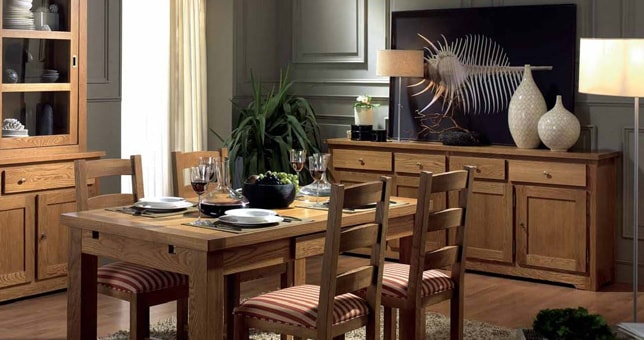 Estilos y tendencias r stico muebles saskia for Muebles comedor rusticos