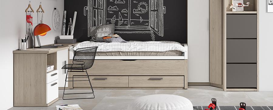 Dormitorio juvenil en Muebles Saskia
