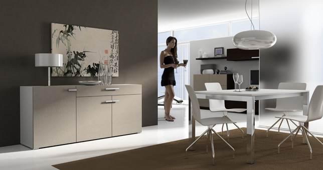 Mesas de comedor comedor moderno muebles saskia en pamplona for Decoracion comedor moderno