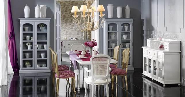 Ambientes de comedor vintage muebles saskia en pamplona for Comedor vintage moderno