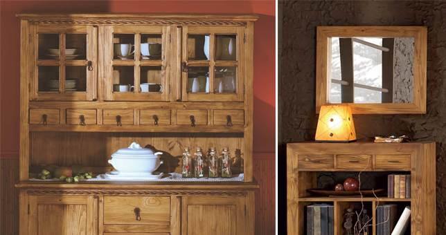 Objetos decorativos decoraci n r stico muebles saskia en for Decoracion hogar rustico