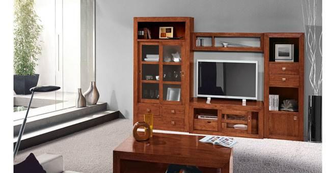 Decora teka muebles saskia en pamplona for Muebles de madera maciza precios