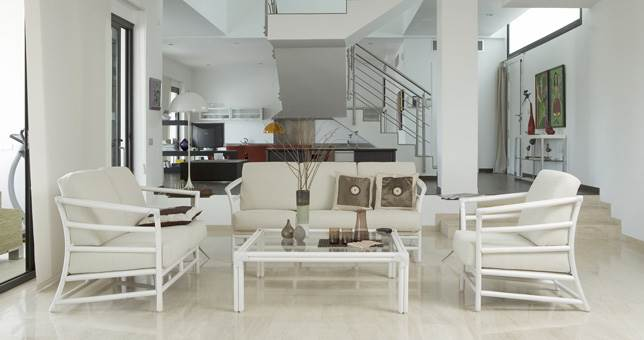 Sillones sof s rattan bambu y fibras naturales muebles - Sillones de bambu ...