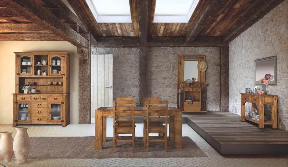 Estilos de decoraci n estilo r stico muebles saskia for Visillos para salon rustico