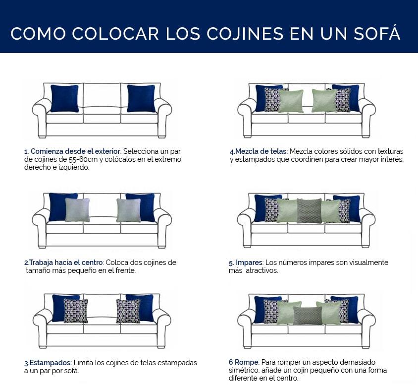Como colocar los cojines en el sofá | Muebles Saskia