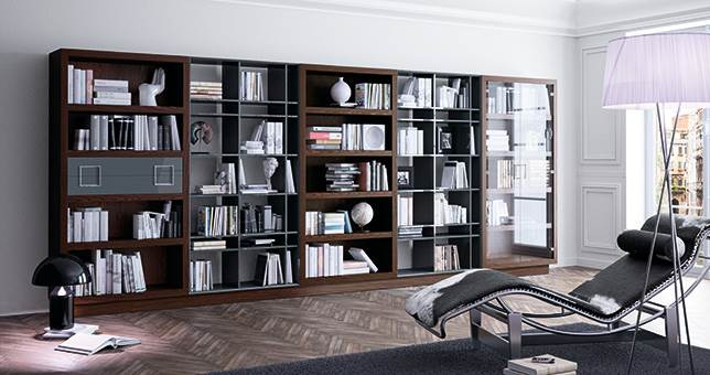 Mueble libreria biblioteca 20170812074509 - Librerias salon modernas ...