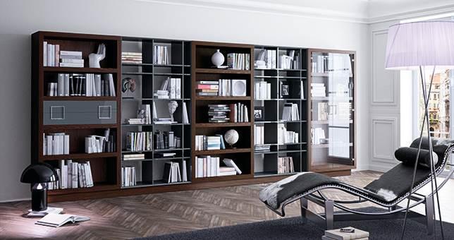Librer as sal n muebles saskia en pamplona for Librerias para salones modernos