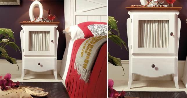 Mesitas de noche dormitorio muebles saskia en pamplona for Decoracion mesitas de noche