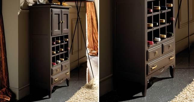 Botelleros auxiliar muebles saskia en pamplona - Botelleros de madera rusticos ...
