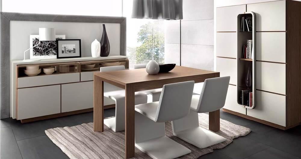 Comedor lecurv 16 moderno 71 muebles saskia en pamplona for Mueble comedor minimalista