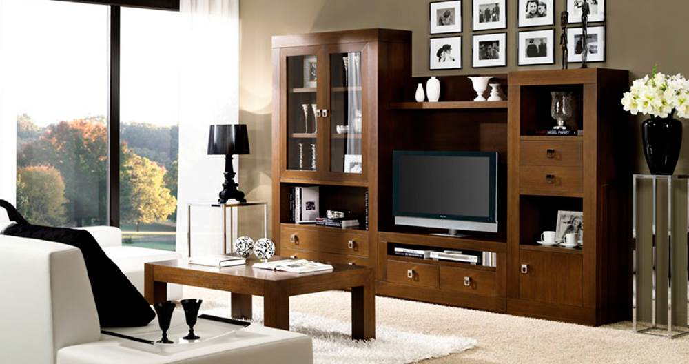 Muebles de salon estilo colonial cool el mueble tv twins for Muebles tipo colonial