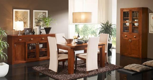 Comedor decora teka 4 muebles saskia en pamplona for Decoracion comedor clasico