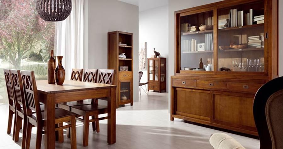Comedor colonial star 9 muebles saskia en pamplona for Muebles estilo colonial moderno