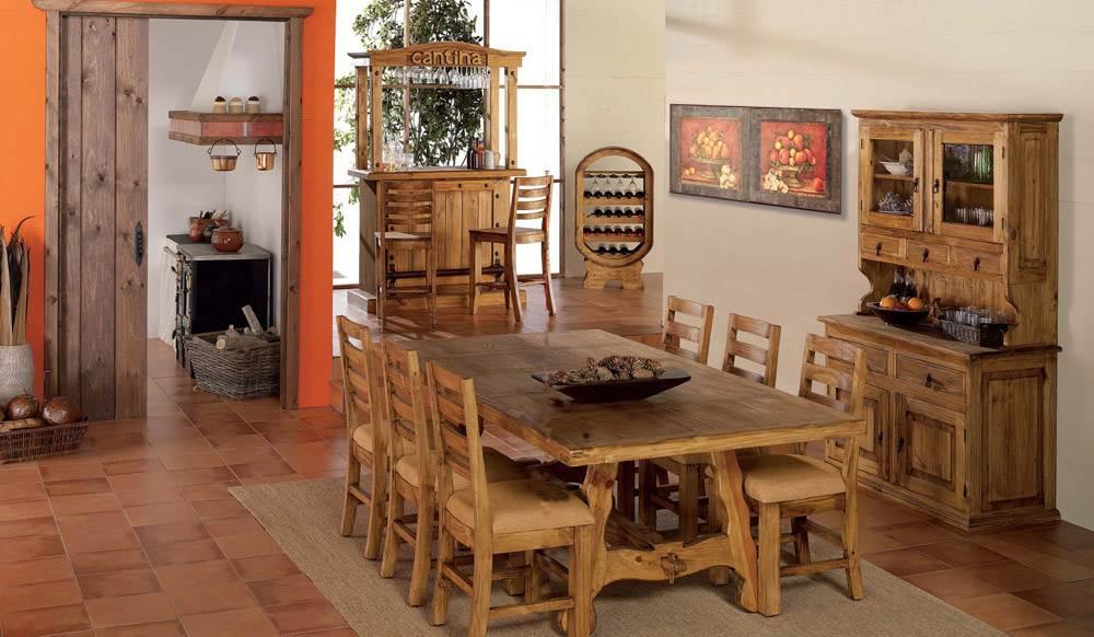 Ambientes de Comedor Rústico | Muebles Saskia en Pamplona