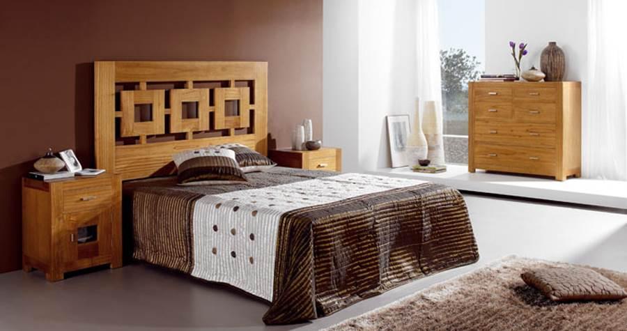 Dormitorio colonial natural 139 muebles saskia en pamplona for Dormitorio colonial