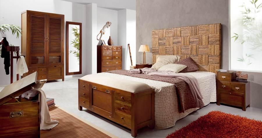 Dormitorio colonial flamingo 101 muebles saskia en pamplona for Estilo etnico contemporaneo