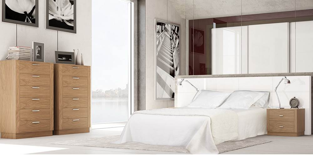 Dormitorio trevi 132 muebles saskia en pamplona for Dormitorio vintage moderno