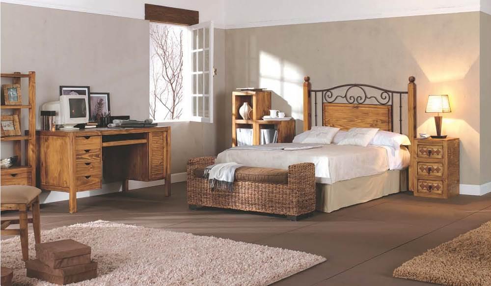 Dormitorio r stico 121 muebles saskia en pamplona - Bancos para dormitorio matrimonio ...