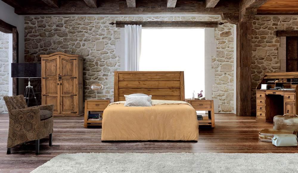 Dormitorio r stico 133 muebles saskia en pamplona - Muebles estilo rustico moderno ...
