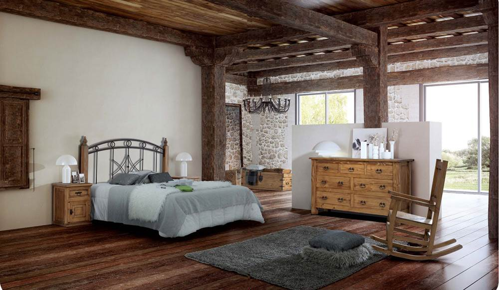 Dormitorio r stico 137 muebles saskia en pamplona for Dormitorios rusticos modernos