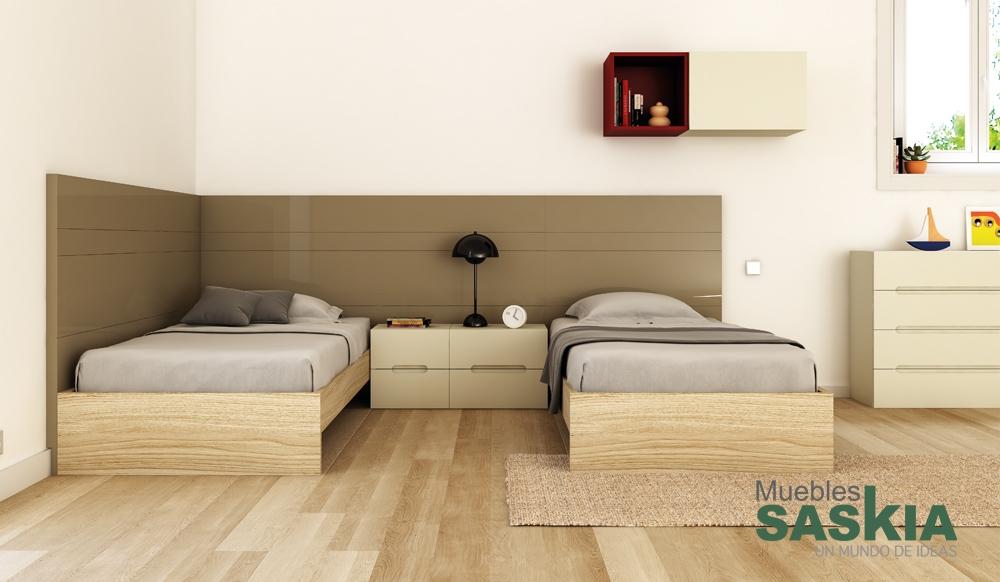 Conjunto muebles habitaci n juvenil muebles saskia en - Dormitorios juveniles pamplona ...