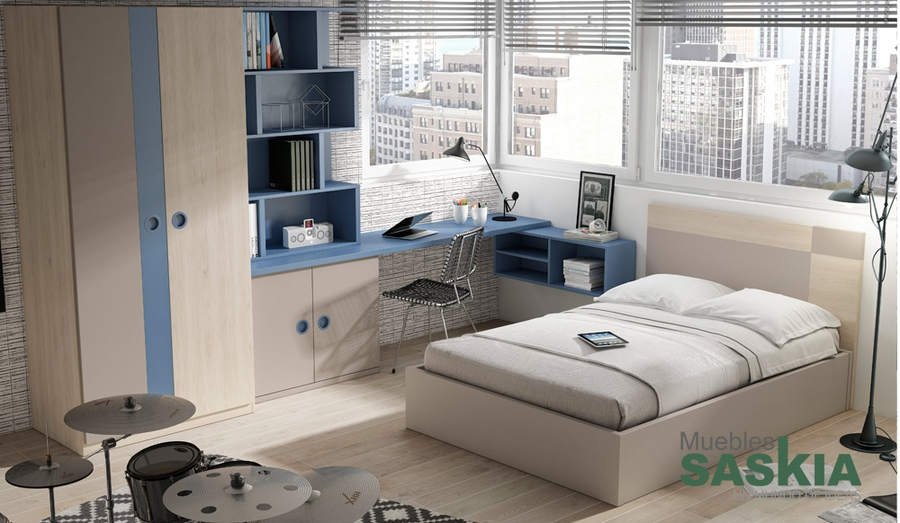 Habitaci n juvenil composici n muebles saskia en pamplona - Dormitorios juveniles pamplona ...
