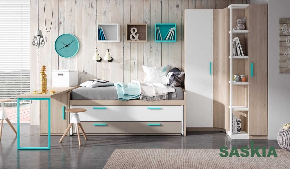 Dormitorio juvenil moderno muebles saskia en pamplona - Dormitorios juveniles pamplona ...