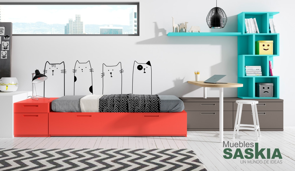 Muebles juveniles composici n muebles saskia en pamplona - Dormitorios juveniles pamplona ...