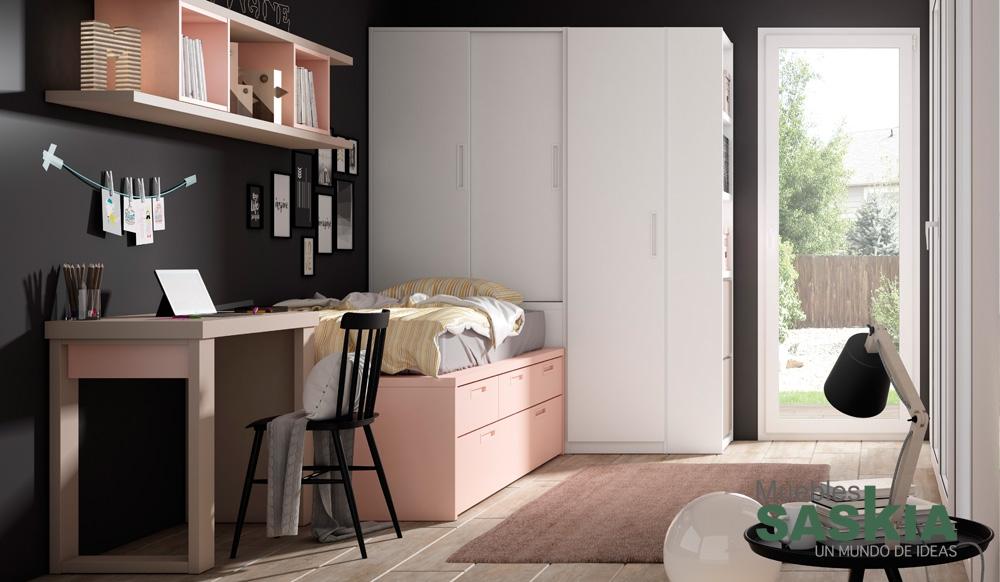 Dormitorio juvenil lan mobel muebles saskia en pamplona - Muebles dormitorio juvenil ...