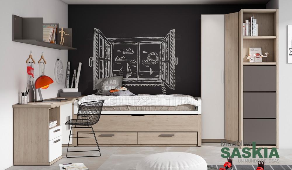 Composici n juvenil de dormitorio muebles saskia en pamplona - Dormitorios juveniles pamplona ...