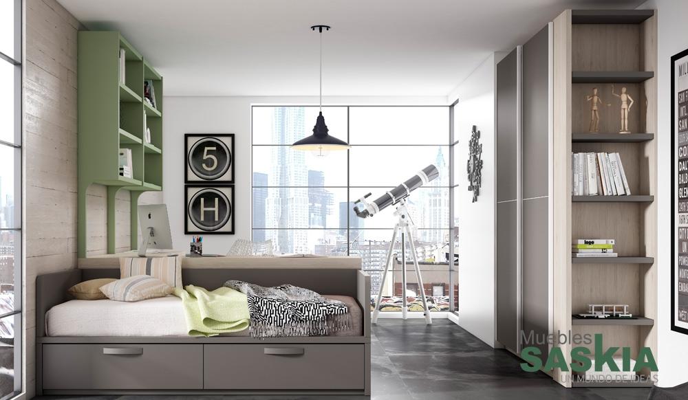 Composici n de dormitorio juvenil muebles saskia en pamplona - Dormitorios juveniles pamplona ...