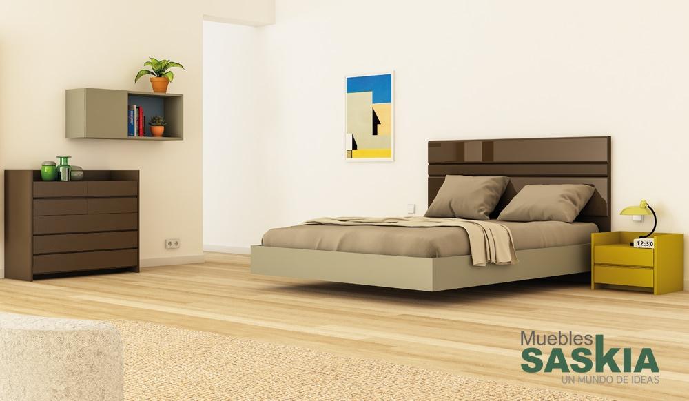 Ambientes de dormitorio moderno muebles saskia en pamplona - Muebles dormitorio moderno ...
