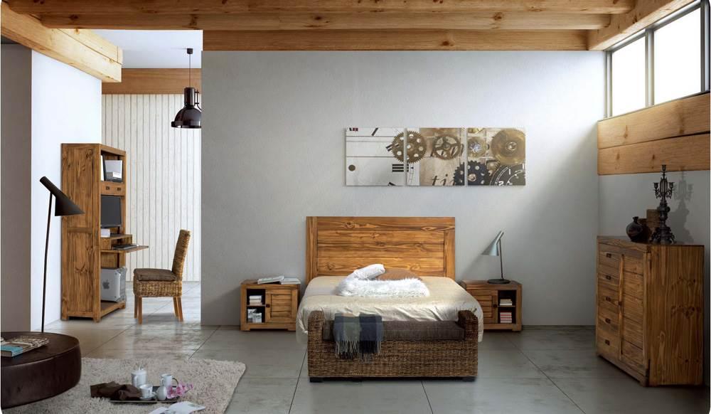 Dormitorio r stico 124 muebles saskia en pamplona - Dormitorios rusticos ...