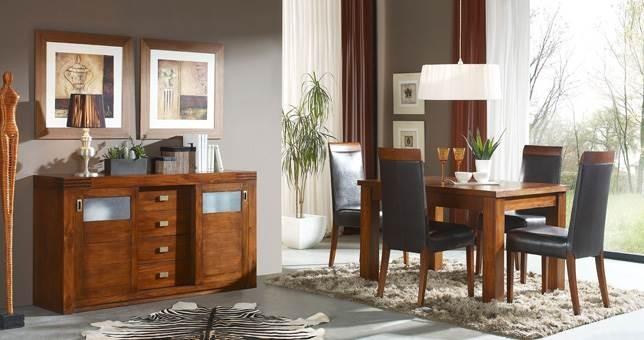 Comedor decora teka 6 muebles saskia en pamplona for Muebles en teka