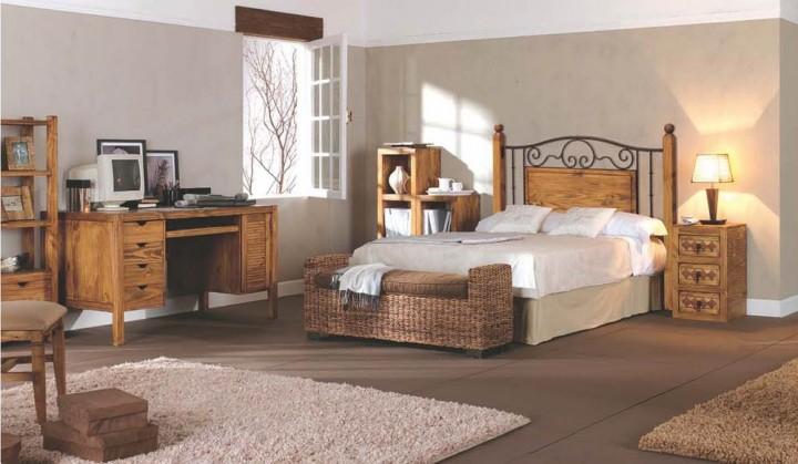 Dormitorio r stico 121 muebles saskia en pamplona for Dormitorio rustico