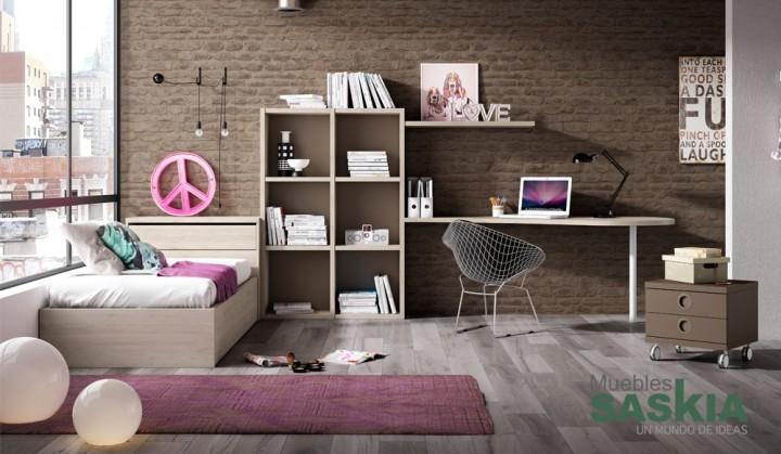 Composición de habitación juvenil