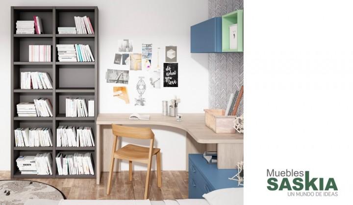 Conjunto de muebles juveniles muebles saskia en pamplona - Dormitorios juveniles pamplona ...