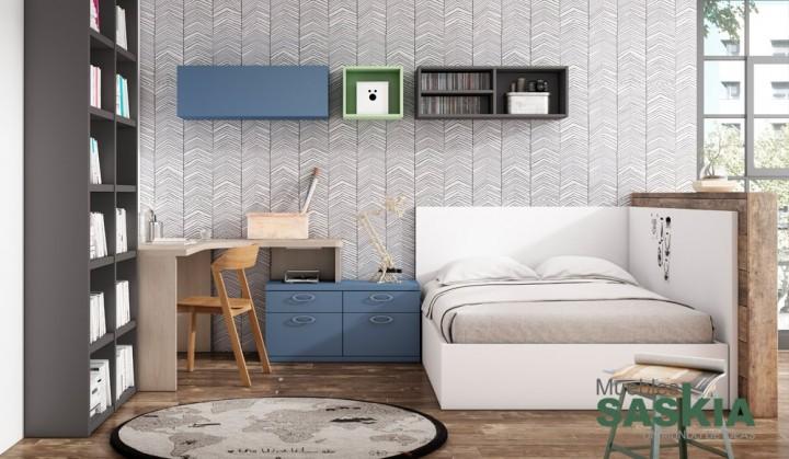 Conjunto de muebles juveniles muebles saskia en pamplona for Conjunto dormitorio juvenil