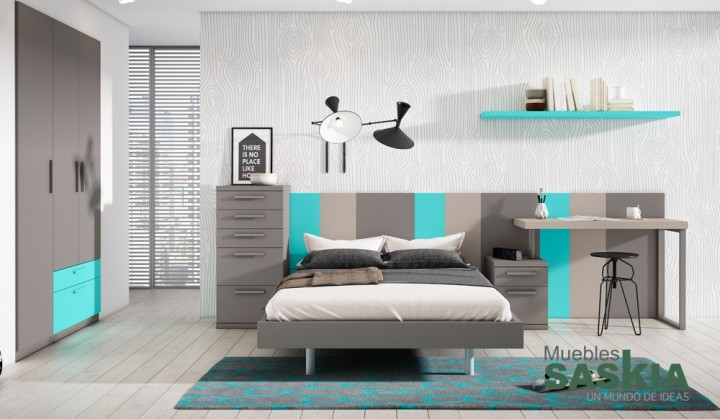 Dormitorio actual, muebles juveniles
