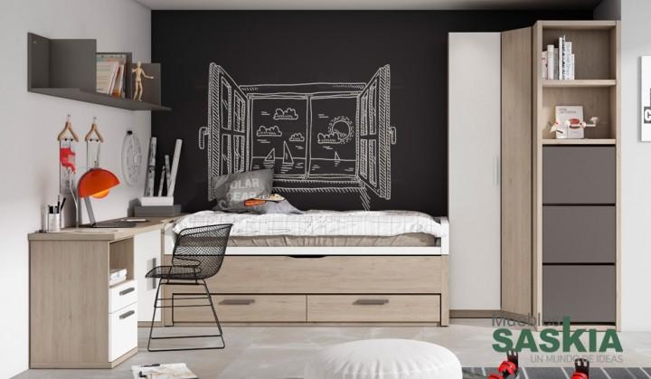 Composición juvenil de dormitorio