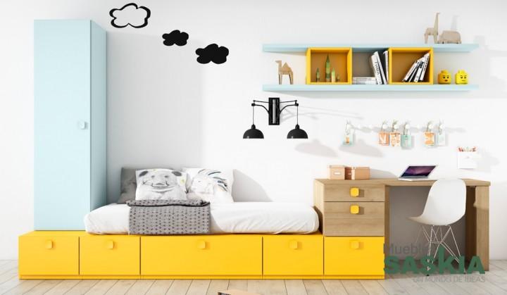 Dormitorio moderno, juvenil