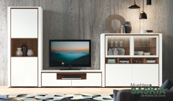 Composición de salón actual, tonos blancos, Rosamor