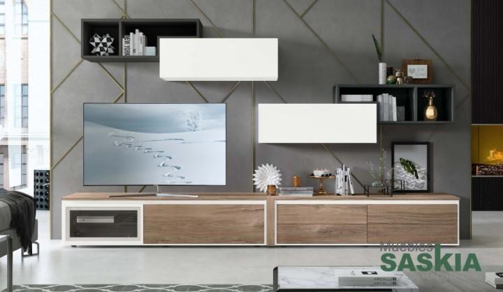 Composici n de sal n moderno rosamor 13 muebles saskia for Composicion salon moderno