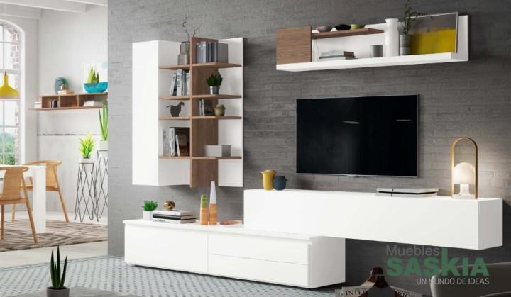 Composici n de sal n moderno rosamor 14 muebles saskia for Composicion salon moderno