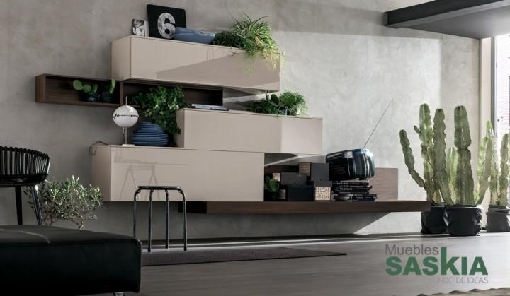 Actual mueble de sal n suspendido muebles saskia en pamplona for Actual muebles
