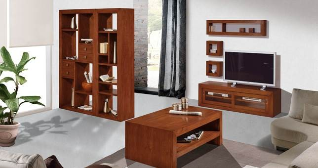 Sal n decora teka 22 muebles saskia en pamplona for Muebles teca colonial