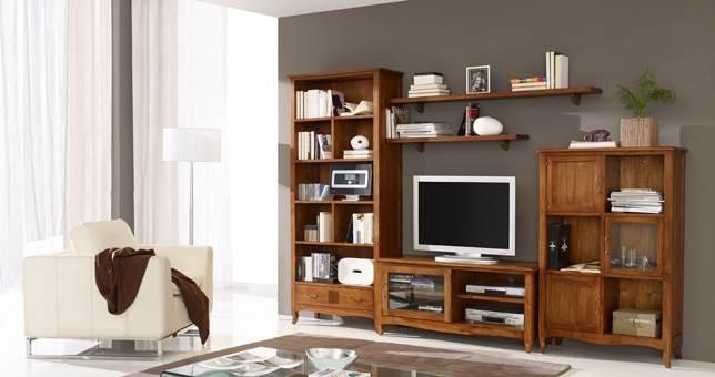 Sal n decora teka 48 muebles saskia en pamplona - Como decorar un mueble de salon ...