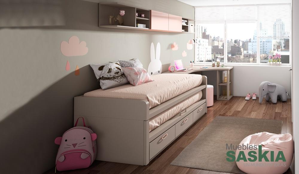 Dormitorio juvenil actual muebles saskia en pamplona - Dormitorios juveniles pamplona ...
