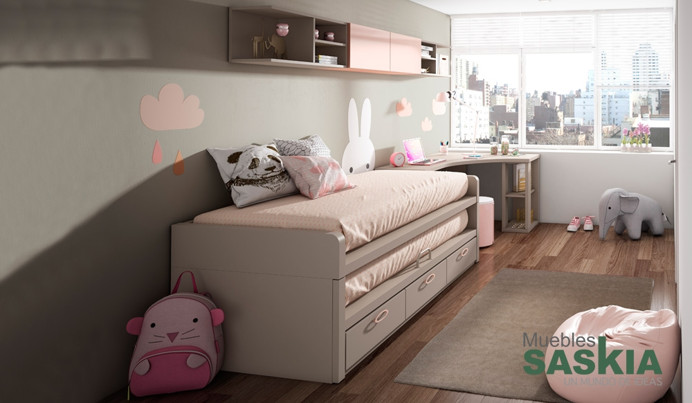 Dormitorio juvenil actual muebles saskia en pamplona for Actual muebles