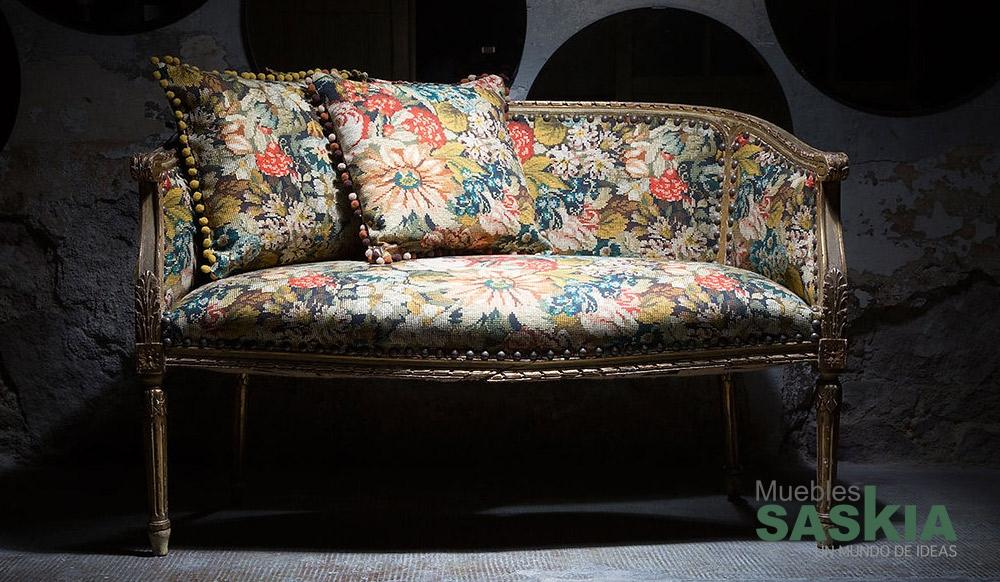 Tela floral para tapizar